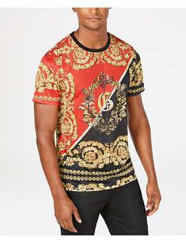 Mens Regal Print Graphic T Shirt by Guess
