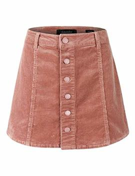 Makeitmint Women's Must Have Cute Corduroy Button Down A Line Mini Skirt by Makeitmint