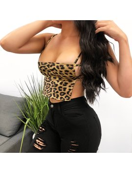 Leopard Backless Top by Laura's Boutique
