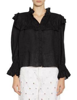 Tedy Linen Ruffle Shirt by Isabel Marant Etoile