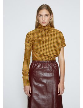 Asymmetric Check Top by Calvin Klein 205 W39 Nyc
