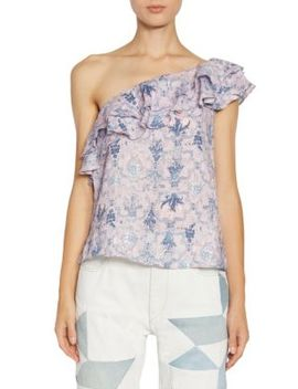 Thomy One Shoulder Ruffle Top by Isabel Marant Etoile
