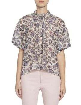Nes Silk Paisley Blouse by Isabel Marant