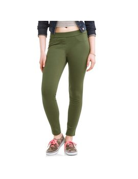 No Boundaries Juniors' Pull On 5 Pocket Stretch Ponte Skinny Pants by No Boundaries