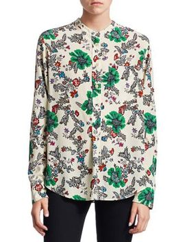 Rusack Printed Silk Shirt by Isabel Marant