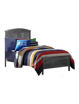 Urban Quarters Metal Panel Bed   Black Steel   Hillsdale Furniture by Hillsdale Furniture