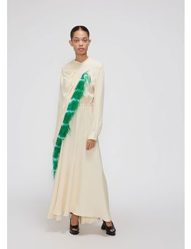 Long Sleeve Feather Gown by Dries Van Noten