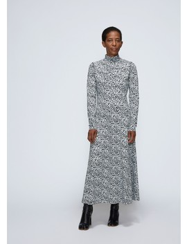 Long Sleeve Floral Print Dress by Cedric Charlier