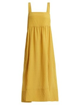 Rothko Square Neck Long Dress by Lee Mathews