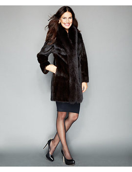 Fox Trimmed Mink Coat by The Fur Vault