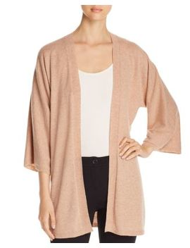 Cashmere Open Kimono Cardigan by Eileen Fisher