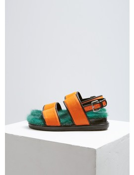 Fur Lined Sandal by Marni