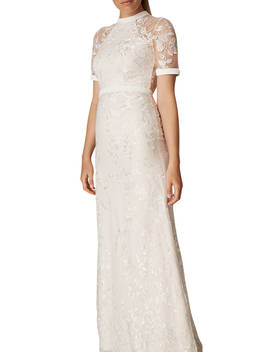 Phase Eight Poppy Embroidered Bridal Dress, Pearl by Phase Eight