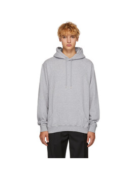 Grey Loopback Hoodie by Sunspel