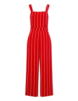 *Girls On Film Red Pinstripe Jumpsuit by Dorothy Perkins