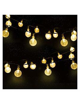 Mr.Twinklelight 30 Led 4.5 M Waterproof Festival Lights Led Solar Lights Celebrate Wedding/Birthday/Christmas Party Warm White Solar String Lights by Mr.Twinklelight