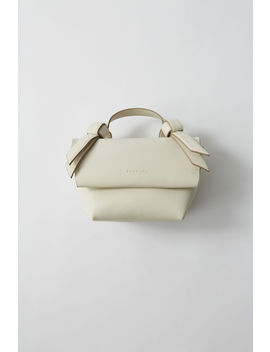 Small Leather Handbag White/Sand Beige by Acne Studios