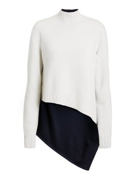Cape Back Two Tone Sweater by Monse
