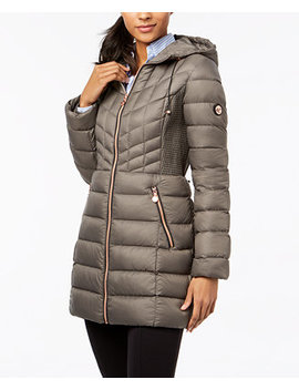 Quilted Hooded Packable Puffer Coat by Bernardo