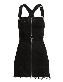 Overall Black Denim Dress by Re/Done