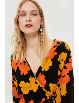 Floral Wrap Blouse by Topshop