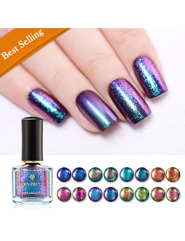 Born Pretty 6ml Magic Nail Polish Shining Glitter Sequin Nail Art Varnish Black Base Needed by Born Pretty