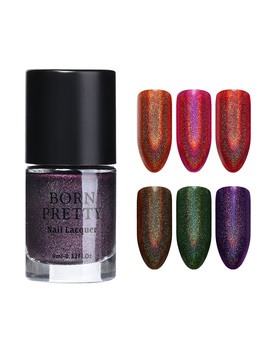 9ml Born Pretty Holographic Nail Polish Series Glitter Super Shining Holo Polish Manicure Designs by Born Pretty