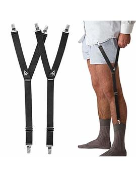 Shirt Stays Adjustable Straps   Elastic Shirt Suspenders Holder Shirt Tucker Non Slip Duckbill Clamps For Men by Almost Done