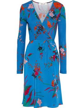 Printed Silk Wrap Dress by Diane Von Furstenberg