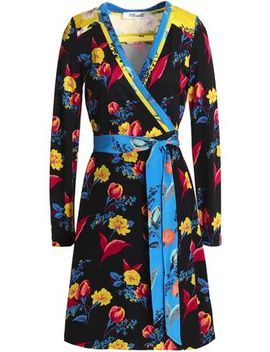 Floral Print Silk Wrap Dress by Diane Von Furstenberg