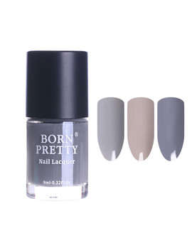 9ml Born Pretty Grey Series Nail Polish Long Lasting Nail Art Regular Nail Polish by Born Pretty