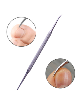 1 Pc Stainless Steel Dual Ended Cuticle Pusher Remover Multifunction Manicure Nail Art Tool by Born Pretty