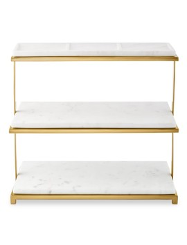 Marble & Brass 3 Tiered Stand by Williams   Sonoma