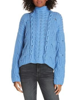 Mix Cable Wool & Cashmere Sweater by Lewit