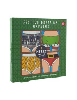 Merry Little Gifts   Set Of 24 Festive Dress Up Napkins by Merry Little Gifts