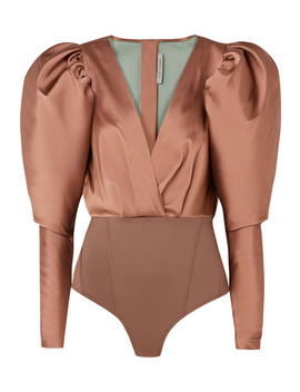 Laura Satin Twill And Stretch Jersey Bodysuit by Silvia Tcherassi