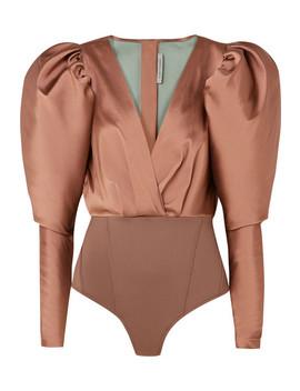 Laura Satin Twill And Stretch Jersey Bodysuit by Silvia Tcherassi