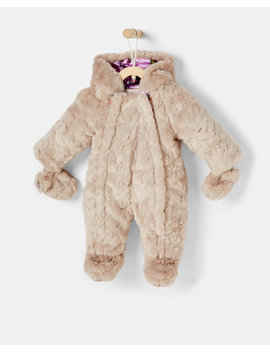 Faux Fur Snowsuit by Ted Baker