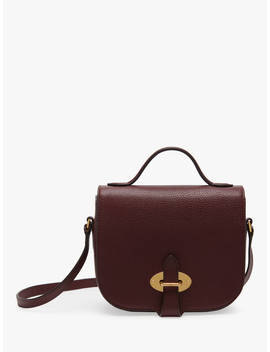 Mulberry Small Tenby Goat Textured Leather Satchel Bag, Burgundy by Mulberry