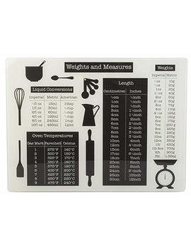"""Everyday Home Glass Worktop Saver, 40x30cm   """"Weights & Measures"""" by Creative Tops"""
