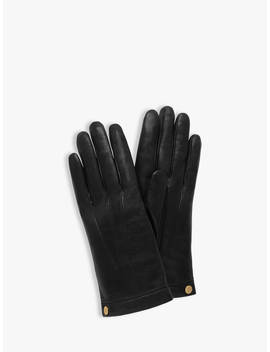 Mulberry Women's Soft Nappa Leather Gloves, Black by Mulberry