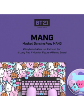 Bts Bt21 X Royche New Official Wireless Silent Keyboard + Mouse Set Free Poster by Ebay Seller