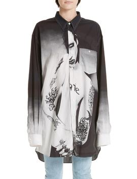 Marilyn Manson Poplin Shirt by Vetements