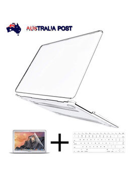 """For 2018 Mac Book Air 13"""" A1932 Transparent Clear Hard Case Shell Keyboard Cover by Computercart"""