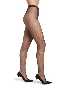 Iridescent Crystals Fishnet Tights by Nordstrom