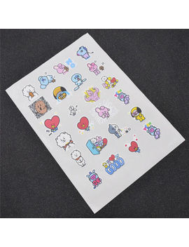 1pc Kpop Star Bts Bt21 Stickers For Phone Mobile Laptop Luggage Cute Accessories by Unbranded