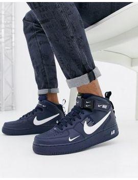Nike – Air Force 1 Mid '07 – Sneaker In Marine, 804609 403 by Asos