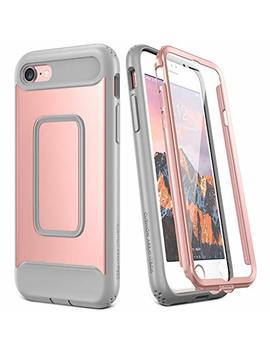 Youmaker Case For I Phone 8 & I Phone 7, Rose Gold Full Body With Built In Screen Protector Heavy Duty Protection Shockproof Slim Fit Cover For Apple I Phone 8 (2017) / I Phone 7 (2016) 4.7 Inch   Rg/Grey by Youmaker