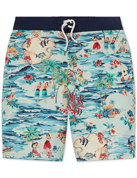 Big Boys Sanibel Luau Swim Trunks by Polo Ralph Lauren