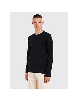 Comme Des Garçons Homme Plus Checkered Knit Sweater Black by Très Bien